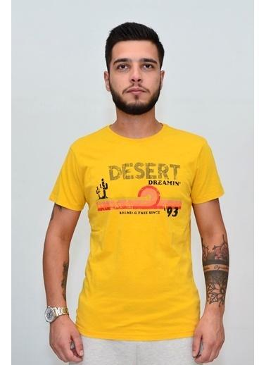 Superfly 20465 Men Tshırt Mustard Hardal